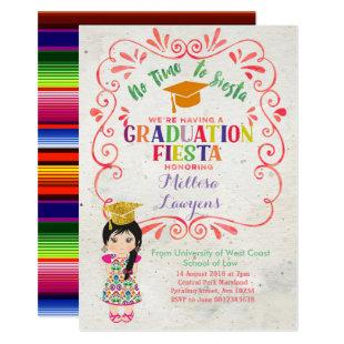 Let's fiesta Graduation Party Fiesta Invitation