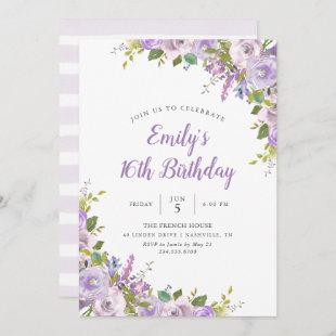 Lilac Floral Birthday Party