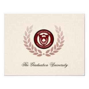 Logo School or College Graduation Announcements