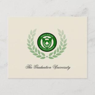 Logo School or University Graduation Announcements