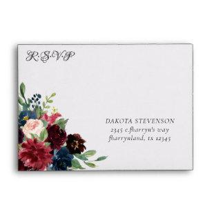 Love Bloom | Rustic Floral RSVP Return Address Envelope