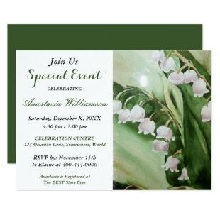 LOVELY LILY OF THE VALLEY PARTY EVENT INVITE