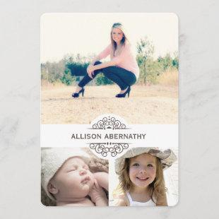 Lovely Then and Now Photo Graduation Party Invitation