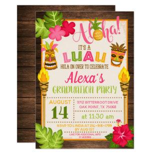 Luau Graduation Party Invitation