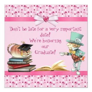 Mad Hatter's Tea Party Graduation Party Invitation