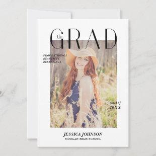 Magazine Cover Graduation Announcement Photo Card