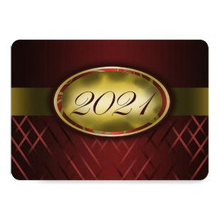 Maroon and Gold Class of 2021 Invitations