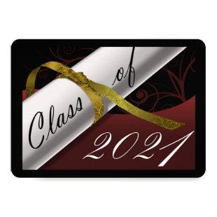 Maroon and Gold Graduation Announcement