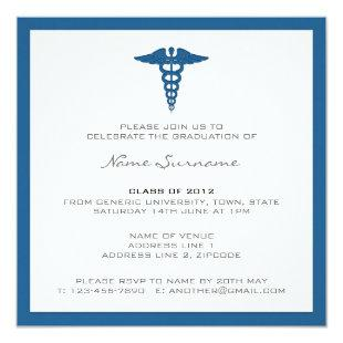 Medical School Graduation Invitation - Letterpress