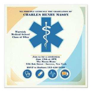 Medical Science Graduate Party Invitation Custom 2