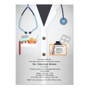 Medical Staff Photo Retirement Invitation