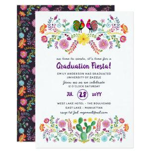 Mexican FIESTA GRADUATION Invitation Folk Art