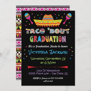 Mexican Fiesta taco bout Graduation Party Invitation