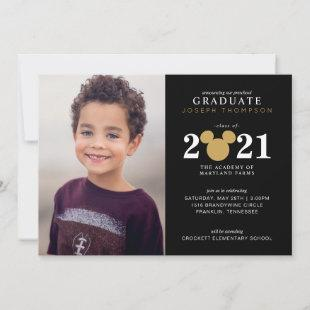 Mickey Mouse Gold and Black Preschool Graduation Announcement