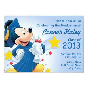 Mickey Mouse | Graduation Invitation