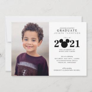 Mickey Mouse Preschool Graduation Announcement