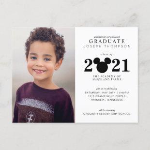 Mickey Mouse Preschool Graduation Announcement Postcard