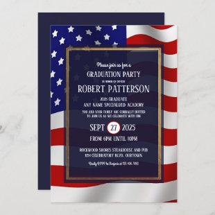 Military Academy Graudation Party Invitation