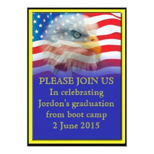 Military Boot camp Graduation Invitation