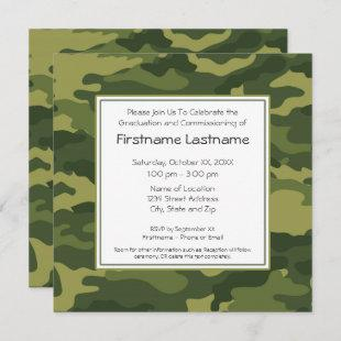 Military Graduation or Commissioning Party Invitation