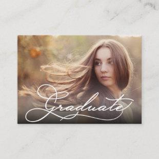 "MINI Size 3.5"" X 2.5"" Grad Photo Invite Cards"