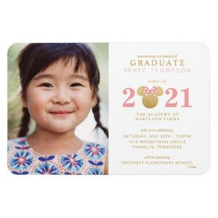 Minnie Mouse Gold and Pink Preschool Graduation Magnet