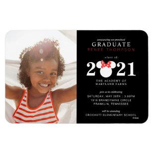Minnie Mouse Red & Black Preschool Graduation Magnet