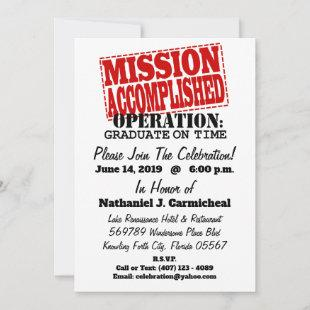 MISSION ACCOMPLISHED Operation Graduate On Time Holiday Card
