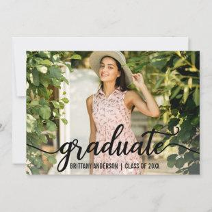Modern 4 Photo Graduation Announcement Card