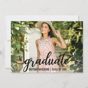 Modern 4 Photo Graduation Announcement Card W