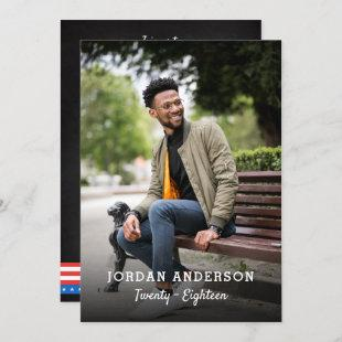 Modern All American Custom Photo Graduation Party Invitation