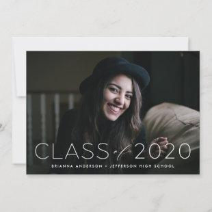 Modern Class of 2020 Overlay Photo Graduation Announcement