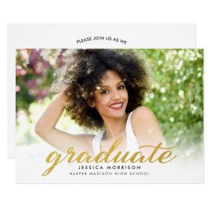 Modern Gold Script 2020 Graduation Announcement