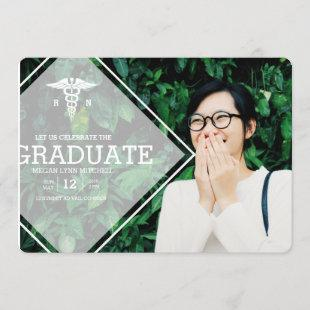 Modern Overlay | RN Graduation Party Photo Invitation
