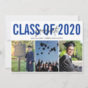 Modern Photo Collage High School Graduation Announcement