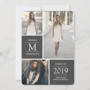 Modern photo graduation announcement