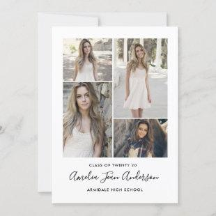 Modern photo graduation invitation announcement