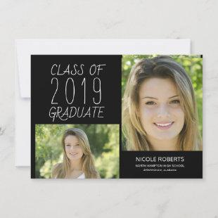 Modern Photo Hand Lettered Graduation Party Invite