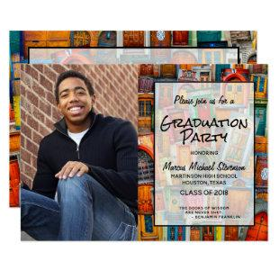 Modern Photo High School Graduation Party Announce Invitation