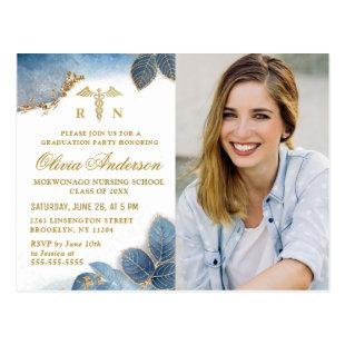 Modern PHOTO Nursing School Graduation Invitation Postcard