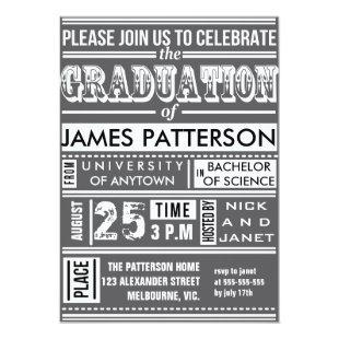 Modern poster graduation party invitation