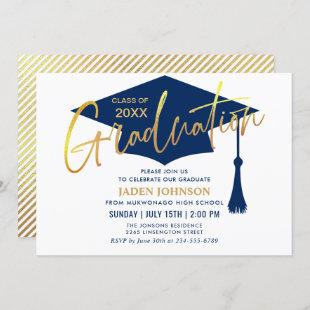Modern Simple Class of 2021 Graduation Party Invitation