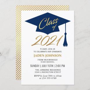 Modern Simple Class of 2021 Graduation Party