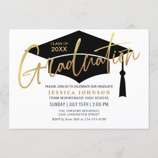 Modern Simple Minimalist Graduation Party Invitation