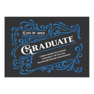 Modern Vintage Graduation Photo College School Invitation