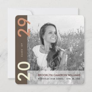 Mondrian Color Blocks Grad Modern Photo Graduation Announcement