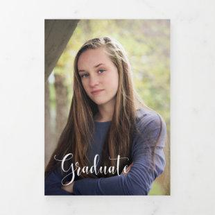 Multiple Photo Graduation Announcement Trifold