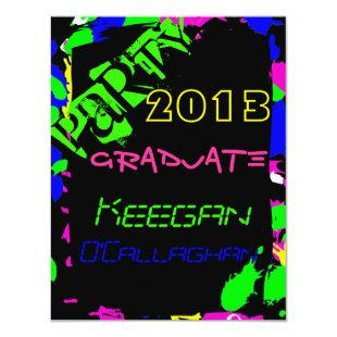 Neon Graduation Party Invitation