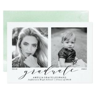 Now and Then | Photo Graduation Party Invitations
