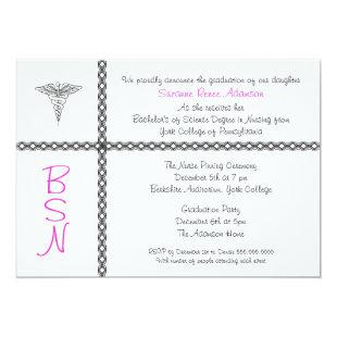 Nurse Graduation Invite BSN LPN RN CUSTOMIZABLE